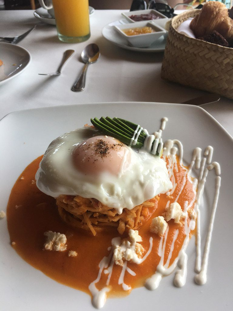 Chilaquiles provide an Instagram-worthy breakfast at the Amuleto hotel.