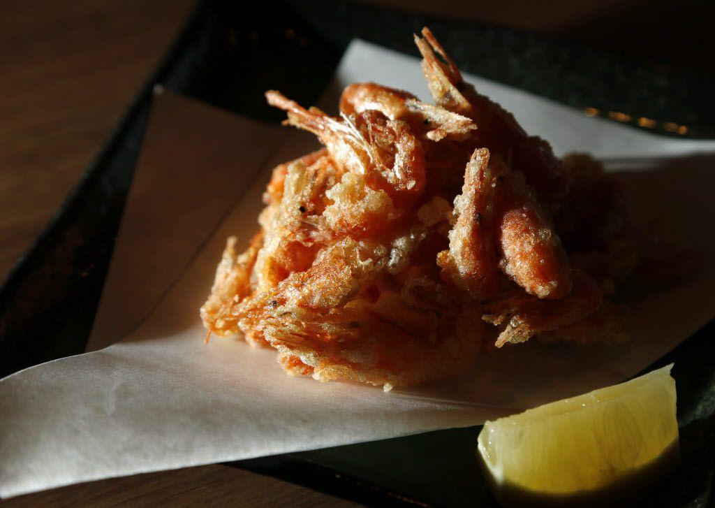 Fried river shrimp at Mr. Max, the izakaya in Irving