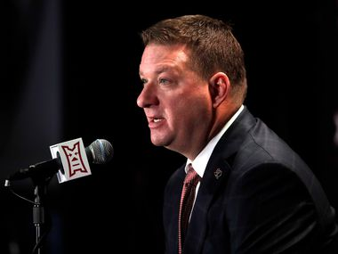 Texas Tech coach Chris Beard listens to a reporters question during Big 12 NCAA college basketball media day in Kansas City, Mo., Wednesday, Oct. 24, 2018.