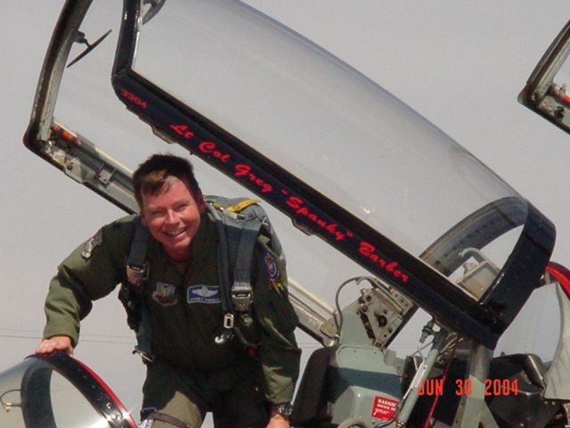 """A retired lieutenant colonel, 55-year-old Greg """"Spanky"""" Barber made a career of flying in the U.S. Air Force for more than two decades. (Photo submitted by KEITH CLIFTON)"""