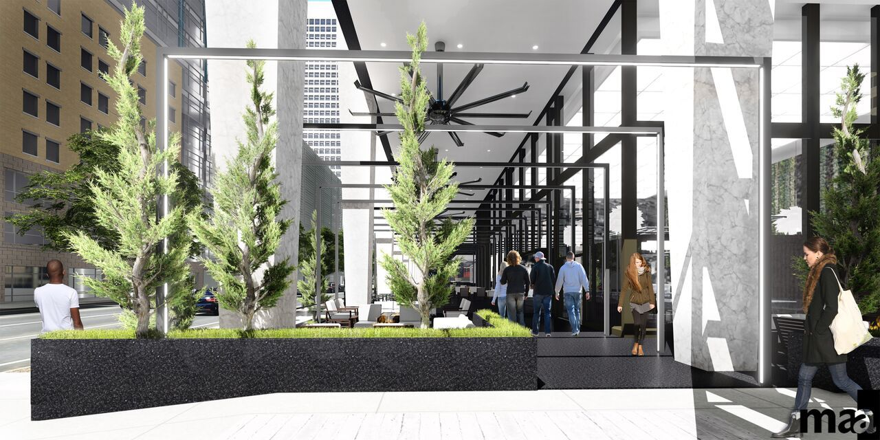 The 52-story former First National Bank building will be converted into a combination of apartments, office space, hotel rooms and retail.
