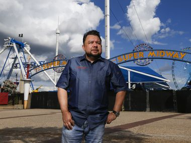 """Fry king"" Abel Gonzales Jr., who holds the record for Big Tex Choice Awards, says he was counting on his two state fair food booths to generate 80 percent of his restaurant business income this year."