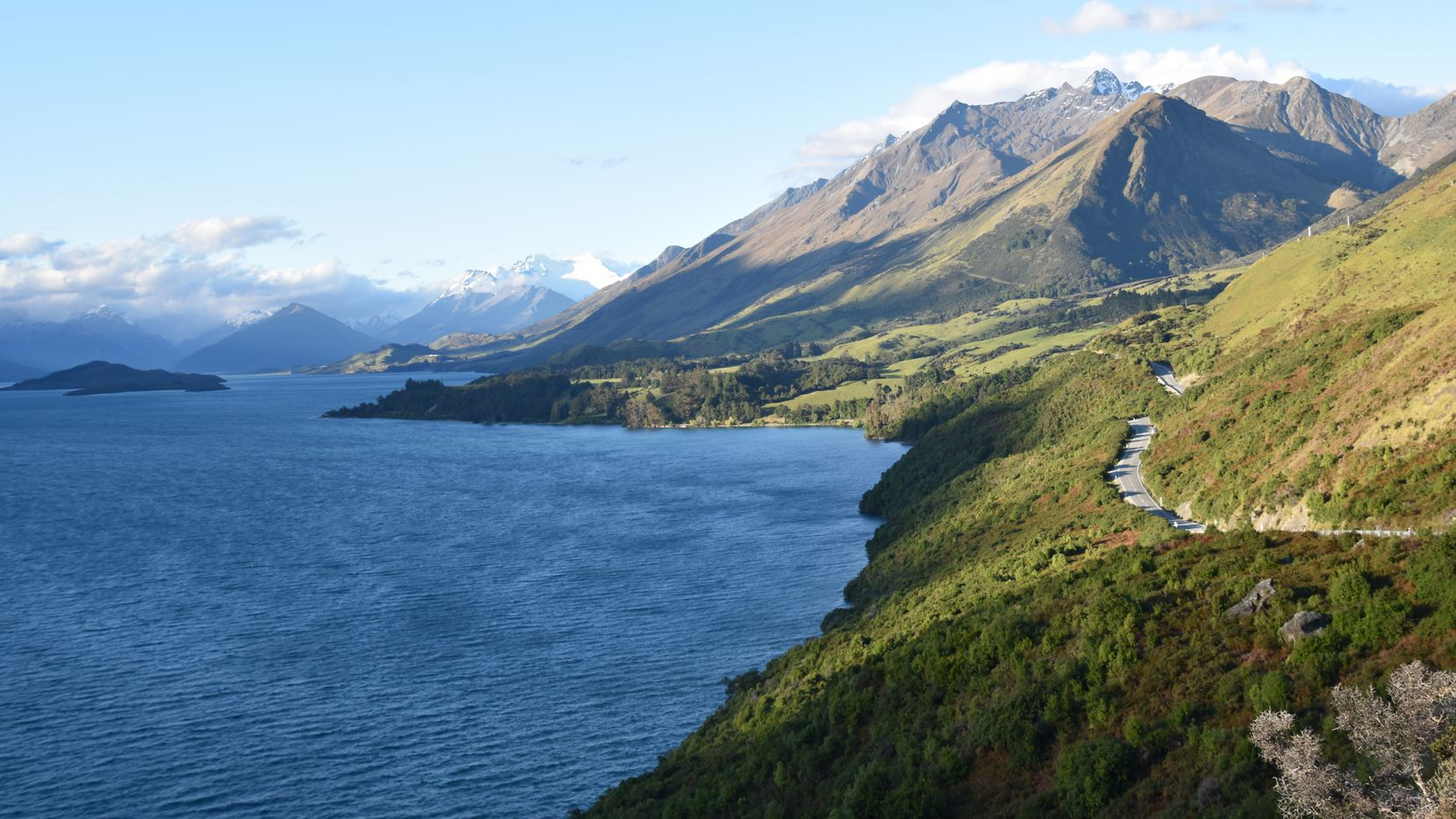 "The northern end of Lake Wakatipu in Glenorchy, New Zealand, was the filming location for several scenes in the ""Lord of the Rings"" movies."