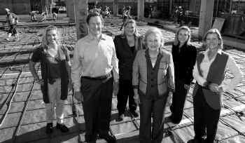 Forrest Hoglund, who is in charge of finishing off the fundraising for the new $185 million Perot Museum of Nature and Science, stands with Margot Perot and her four daughters: (from left) Katherine Reeves, Suzanne McGee, Carolyn Rathjen and Nancy Perot (left to right). Hoglund calls his effort to raise the remaining $50 million the 'Final Fifty.'