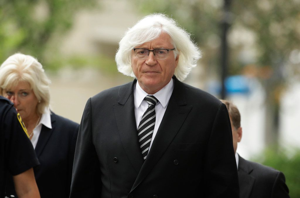 Defense attorney Tom Mesereau arrives for Bill Cosby's pretrial hearing in Cosby's sexual assault case at the Montgomery County Courthouse in Norristown, Pa, in August 2017.  Mesereau, a high-profile Hollywood lawyer best known for winning an acquittal in Michael Jackson's 2005 child molestation trial, is representing a doctor in the Forest Park Medical Center bribery trial in Dallas.