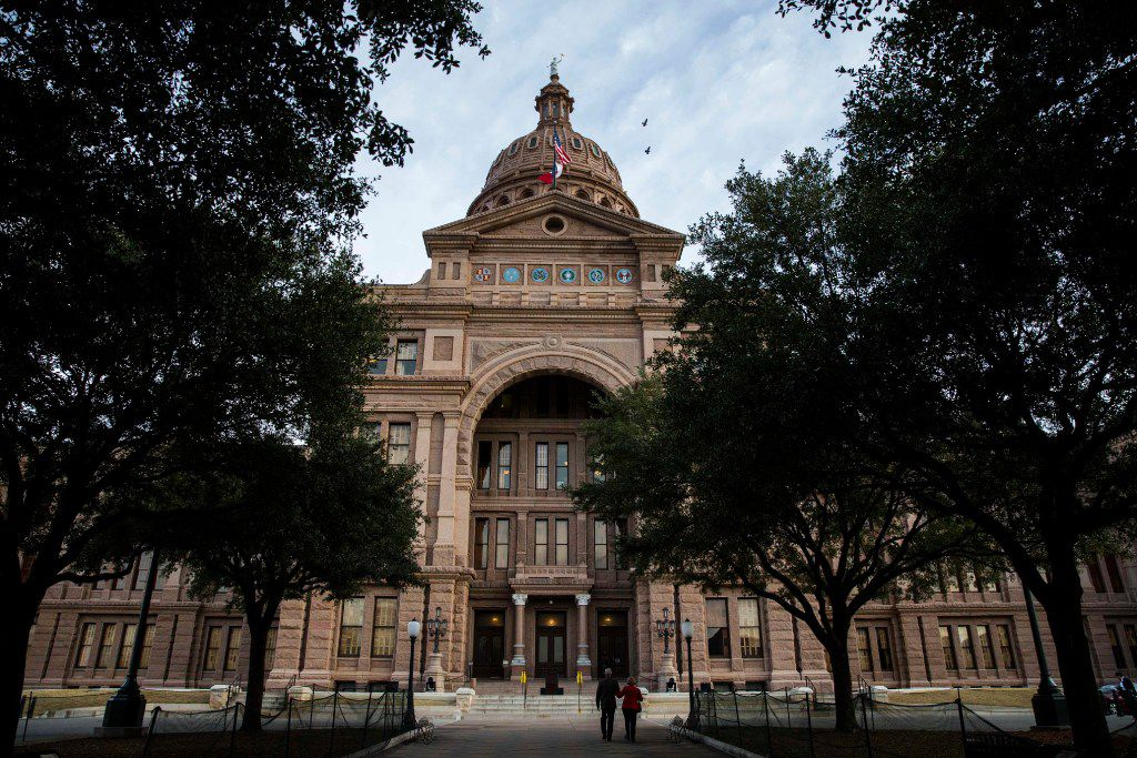 The Texas State Capitol building on the first day of the 85th legislative session on Tuesday, Jan. 10, 2017. (Ashley Landis/The Dallas Morning News)