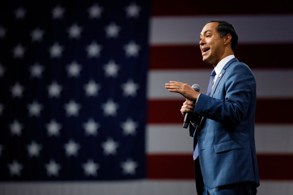 Democratic presidential candidate Julián Castro rips into President Donald Trump in a TV ad that will air Wednesday on Fox News in Bedminster, N.J., where Trump is vacationing.
