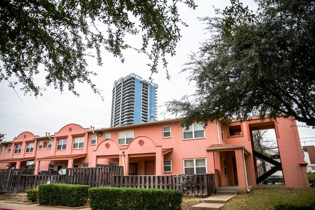 The Little Mexico Village apartments in Dallas on Thursday, Jan. 10, 2019. The apartments were built in the early 1940s to replace shacks in the area.
