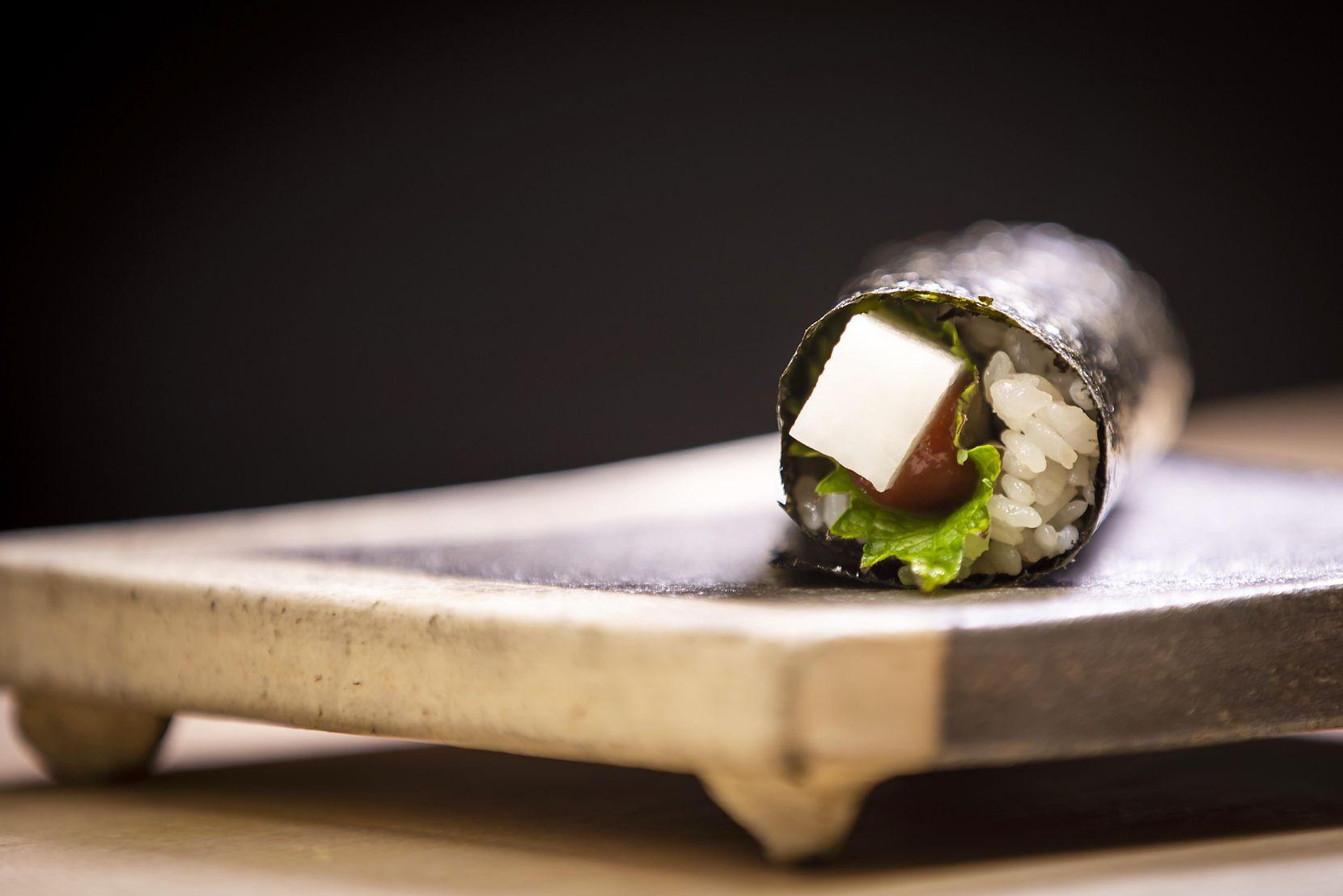 Yamaimo hand roll at Nori Handroll Bar