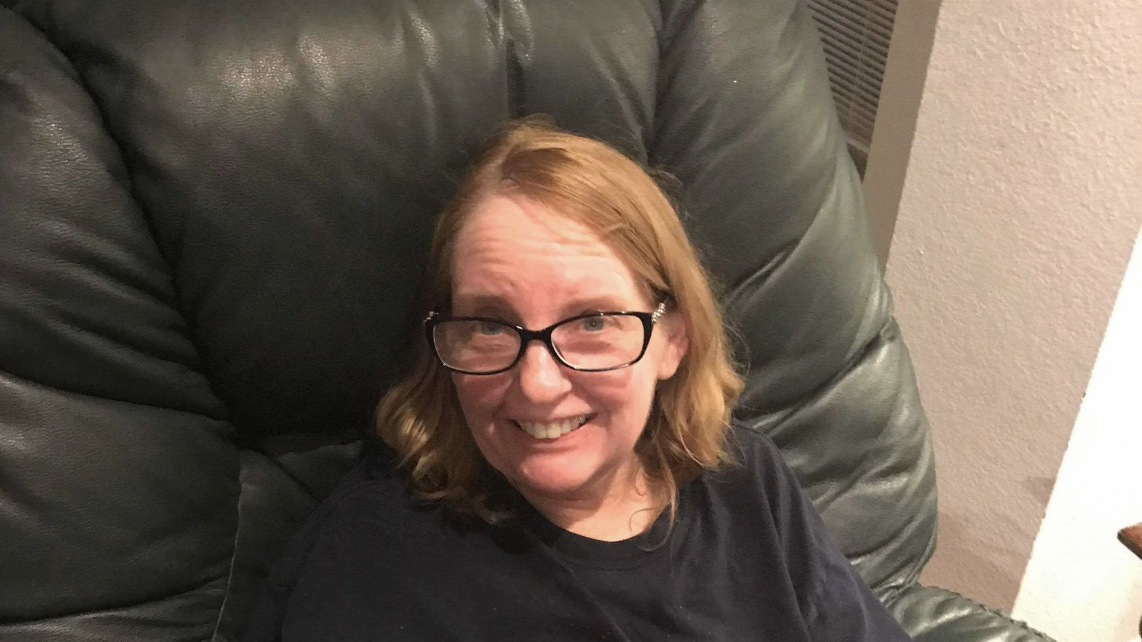 Rebecca Watson, 60, lives with a rare form of ALS and has very limited mobility. When the storm hit, she could not go outside her Victory Park home to see the snow, so she asked neighbors on NextDoor to send her photos. The response was overwhelming. (Photo by Laura Watson)