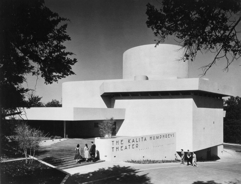 1959 exterior of the Dallas Theater Center's Kalita Humphreys Theater