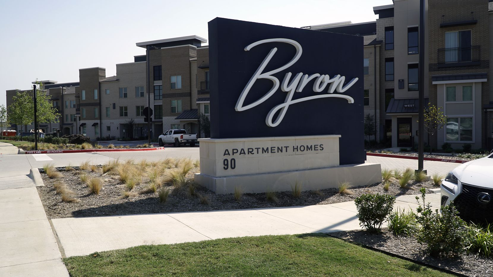The Byron apartment complex in Trophy Club, Texas after it opened in 2020.