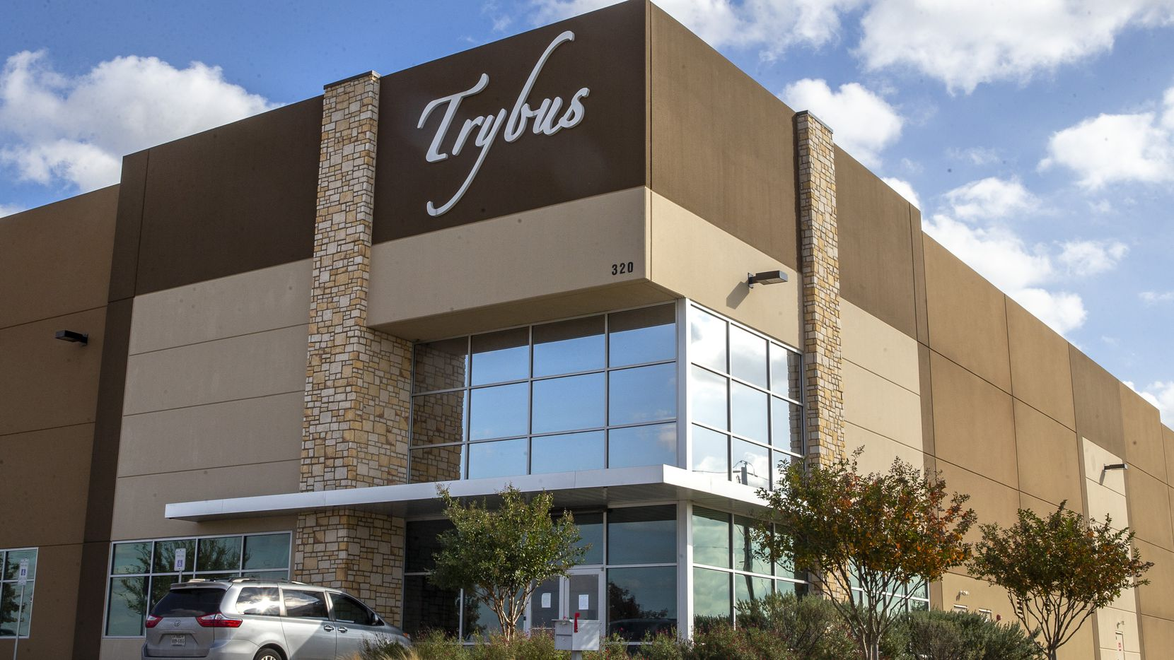 The Trybus factory warehouse in DeSoto.