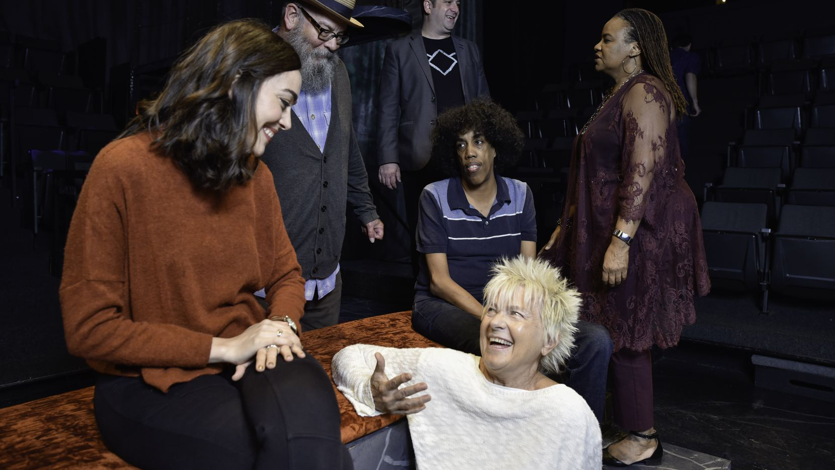 Janielle Kastner (clockwise from left), Matthew Posey, Michael Federico, Denise Lee, Jonathan Norton and Isabella Russell-Ides are among the local playwrights making a mark on the Dallas theater scene.
