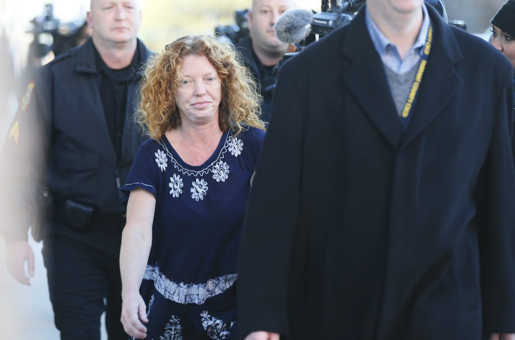 """Tonya Couch, the mother of a Texas teen who used an """"affluenza"""" defense in a deadly drunken driving accident, is accused of withdrawing $30,000 from a bank account and fleeing with her son to Mexico after he missed a meeting with his probation officer. (Brandon Wade/The Associated Press)"""