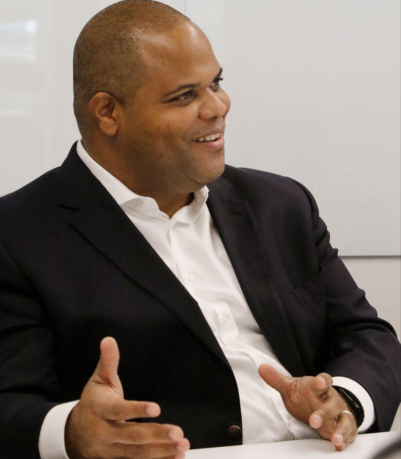 Dallas Mayor Eric Johnson talked to The Dallas Morning News' editorial board on Thursday.
