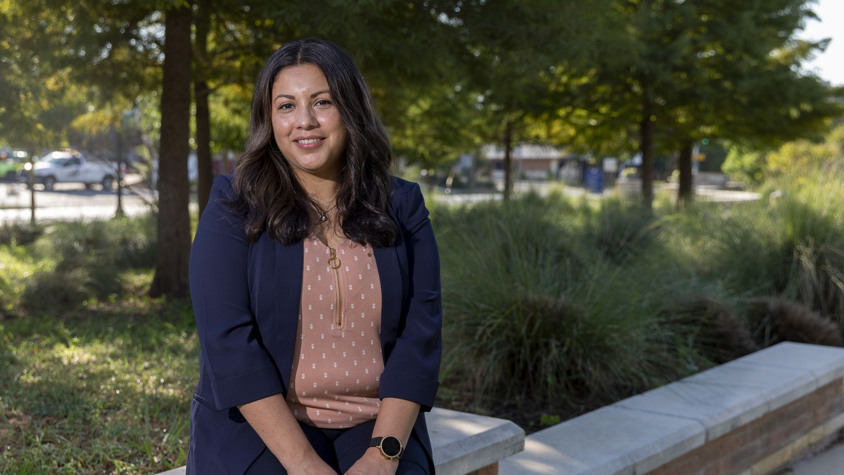 Denise Hernandez pictured at The Green at College Park on Thursday, Oct. 7, 2021, in Arlington.