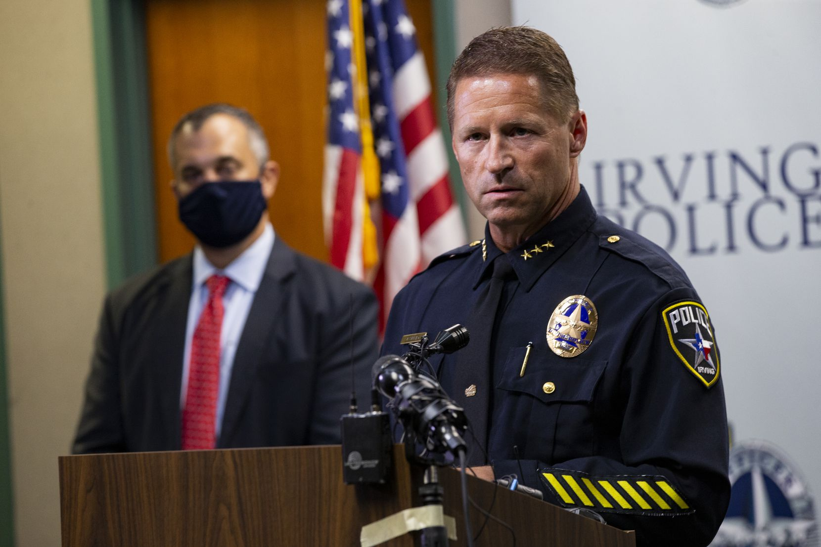 Irving police Chief Jeff Spivey discussed the capture of Yaser Abdel Said at a news conference with the Federal Bureau of Investigation and the United States Attorney's Office on Aug. 26 in Irving.