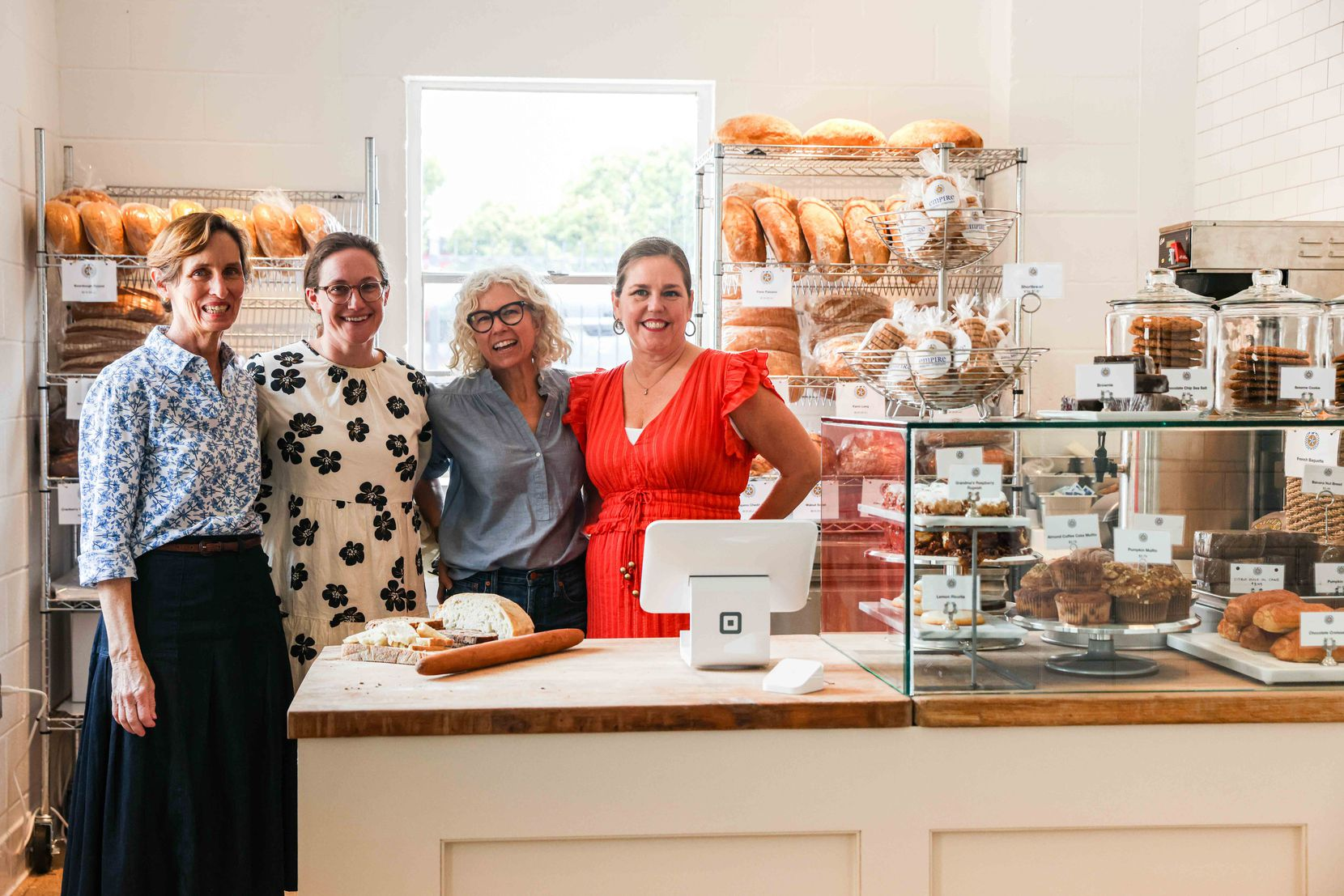 (From left) Meaders Ozarow, Emily Hartsell, Malina Pearson and Tarrie Hoffman created and operate the new Empire Baking Company.