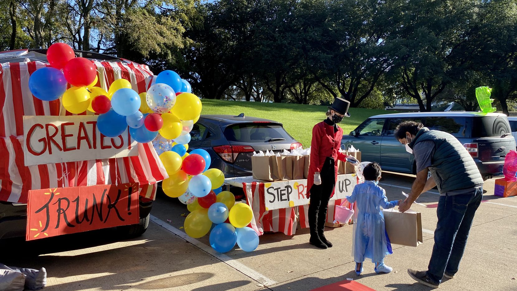 """Credera recently held a """"trunk or treat"""" event for its Dallas workers and their families."""