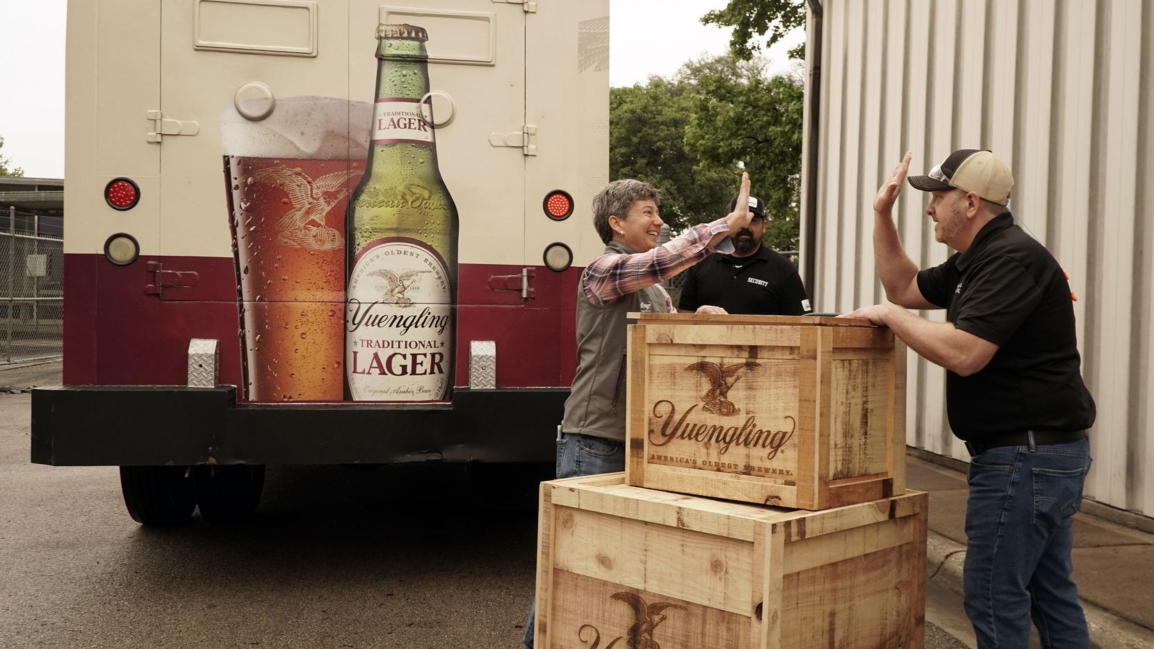 Jen Yuengling and Jim Crawford delivered secret family recipes in May 2021 to the Molson Coors brewing facility in Fort Worth, where the Pennsylvania beers were brewed in Texas for mass production. Starting Aug. 23, 2021, four Yuengling beers go on sale at major retailers in the Lone Star State.