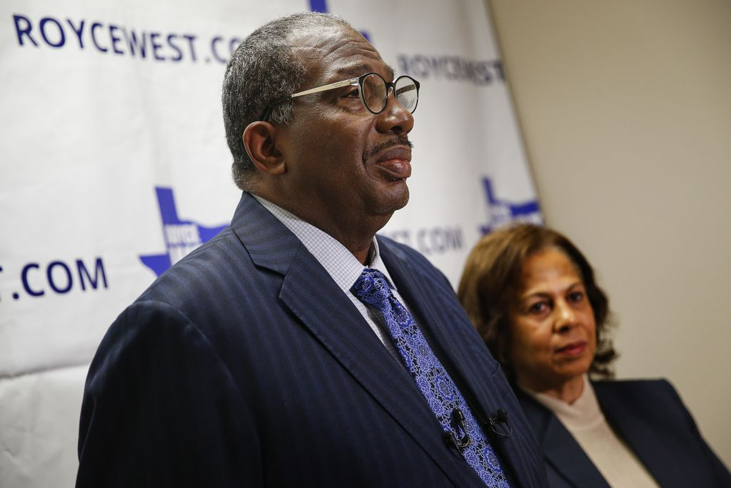 State Senator Royce West speaks to members of the media on Wednesday, March 4, 2020 at his office in Dallas. (Ryan Michalesko/The Dallas Morning News)