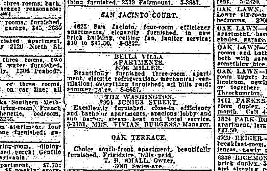 This ad appeared in the April 18, 1927, issue of The Dallas Morning News.
