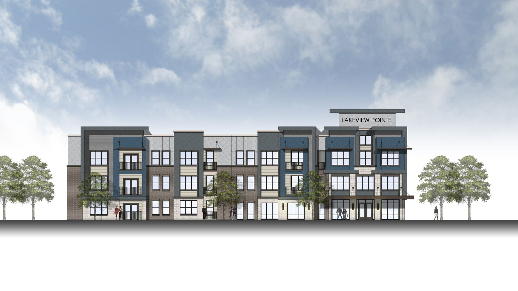 The Lakeview Pointe apartments will be built off I 30.