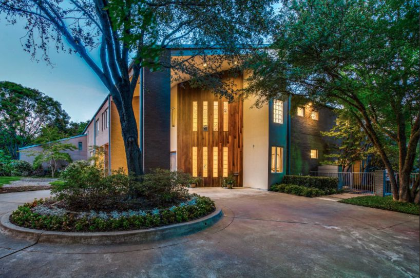 The North Dallas home is 7,154 square feet.