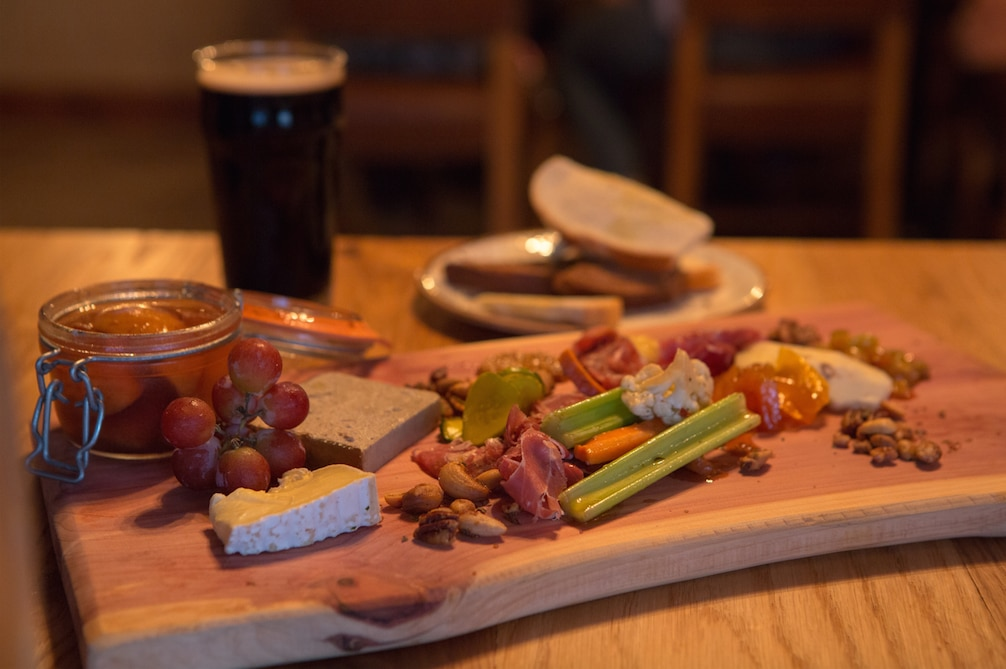 The Motherboard, a collection of chef favorite items from the menu served on one of the signature boards at Barley and Board's soft opening event on Tuesday, August 11, 2015 in Denton, Texas.