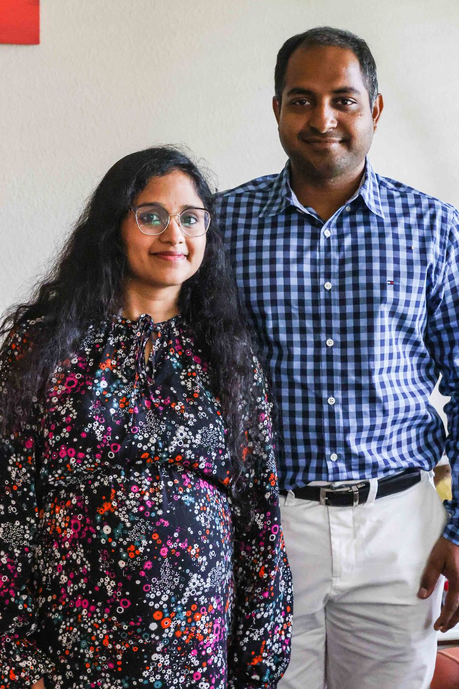 Gowri Pujitha Appana (left) and Kartheek Veeravalli, who have worked for years in startups and the financial services sector in D-FW, wanted to get more involved in the India relief effort so they could see the impact themselves.