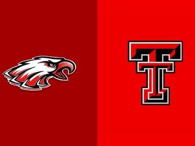 The logos for Argyle (left) and Texas Tech.