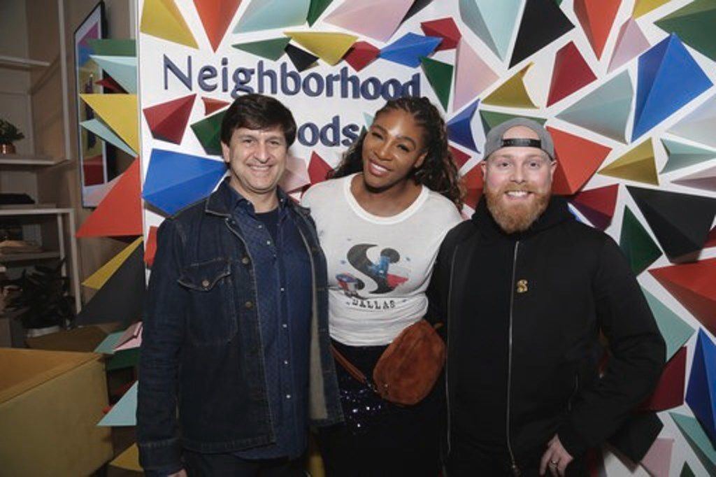 Serena Williams hosts the launch event of her Great Collection at Neighborhood Goods in Plano in December 2018. She's pictured with store founders Mark Masinter and Matt Alexander.