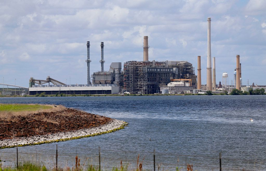 The former coal-fired Sandow power plant near Rockdale, Texas, Thursday, on June 14, 2018. The electric generating power plant owned by a subsidiary of Luminant was shut down in 2018.