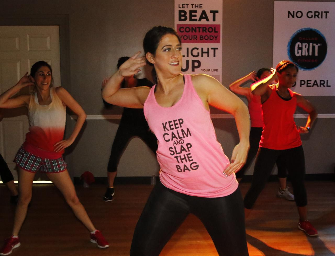 Rachel Kuhr keeps ideas  churning by trying different activities, including a workout at Grit Fitness in Dallas. She swears by improv to boost creativity.