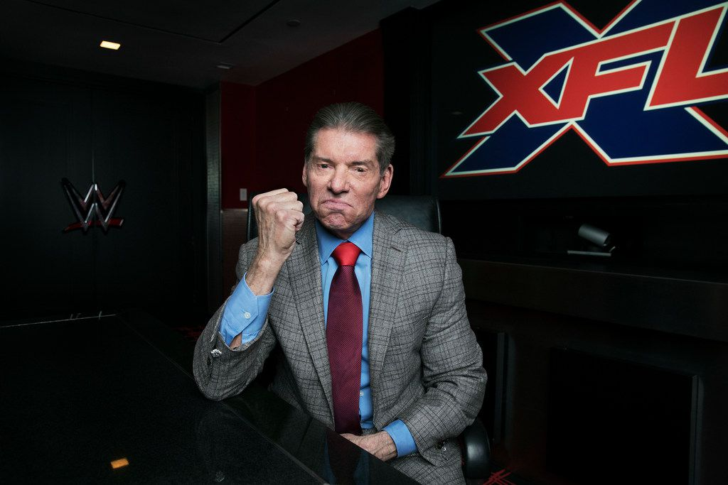 Vince McMahon, the chairman and chief executive of World Wrestling Entertainment, in Stamford, Conn., Jan. 24, 2018. McMahon is taking a second crack at professional football by reviving the XFL, his first, failed football venture.   (Jesse Dittmar/The New York Times)