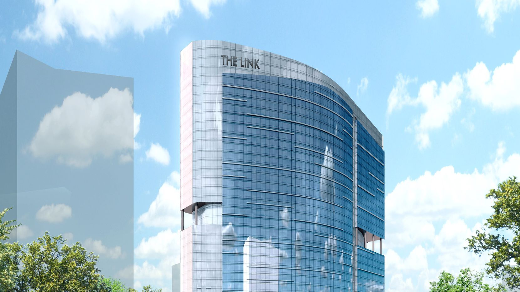 The 25-story Link at Uptown office tower will open in 2021.