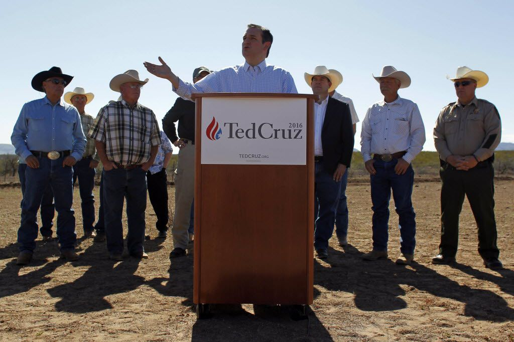 Texas Sen. Ted Cruz introduced a bill Tuesday to use assets seized from Mexican drug lord El Chapo to pay for President Donald Trump's proposed border wall. (2016 File Photo/The Associated Press)