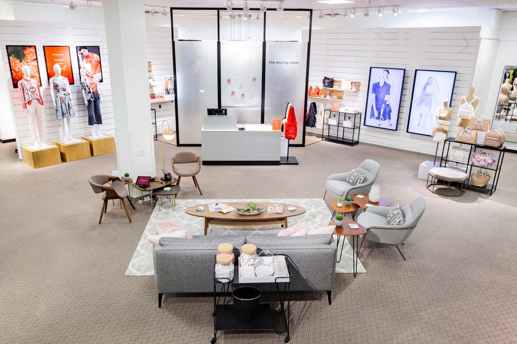 """J.C. Penney is testing a new """"styling room"""" in women's apparel with a seating area and redecorated dressing rooms. This test is at Alliance Town Center in Fort Worth."""
