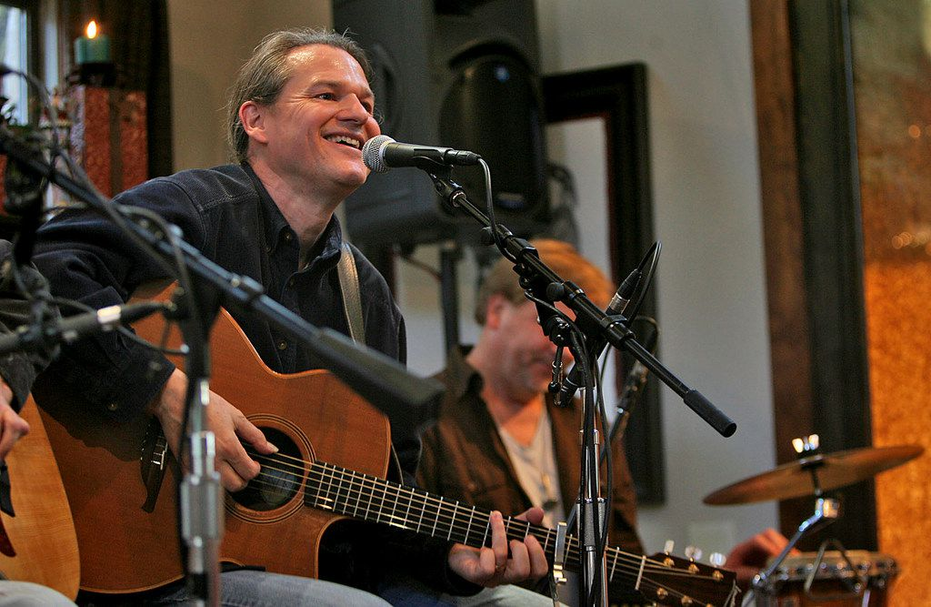 "Billy Crockett, a singer, songwriter and creative director of Blue Rock Studio in the Texas Hill Country, will discuss storytelling in a ""Duets"" session with Dallas Morning News editor Mike WIlson on Oct. 1. Crockett is shown here performing a set with Kevin Welch, Sam Baker, Colin Brooks and Roger Friend in 2009."