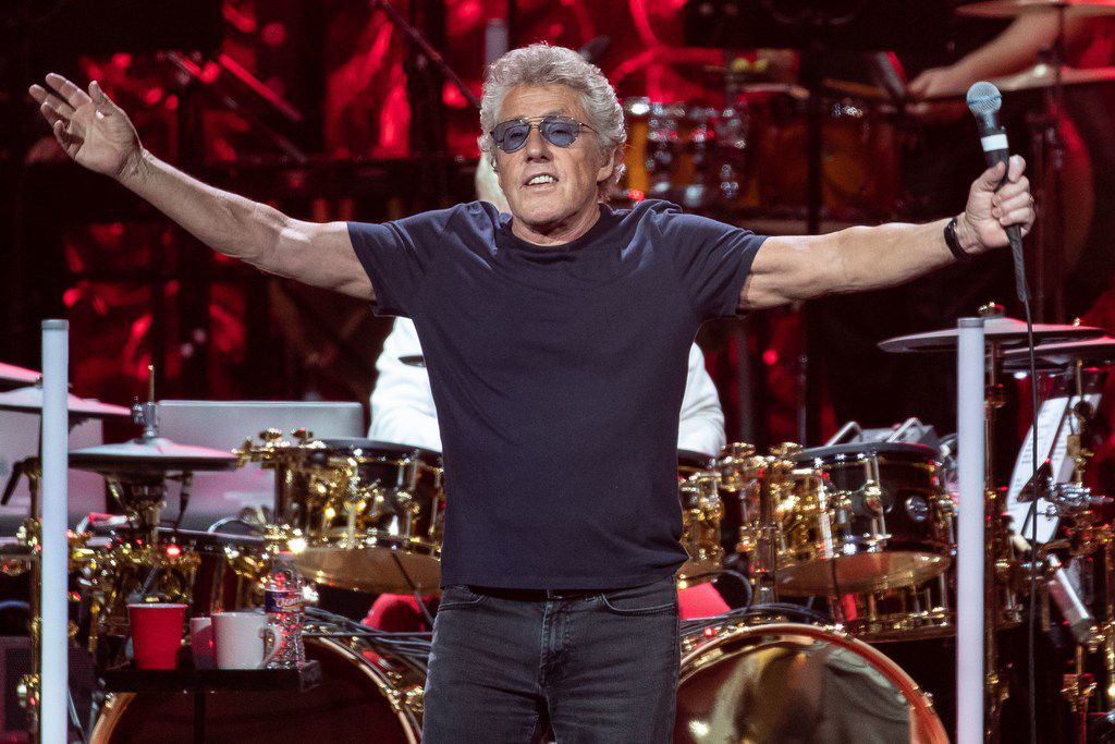 Roger Daltrey of British rock band The Who performs at the Toyota Center on the second leg of the band's Moving On! Tour on Sept. 25, 2019 in Houston, Texas. Daltrey lost his voice during the performance, forcing the band to abruptly end the show.