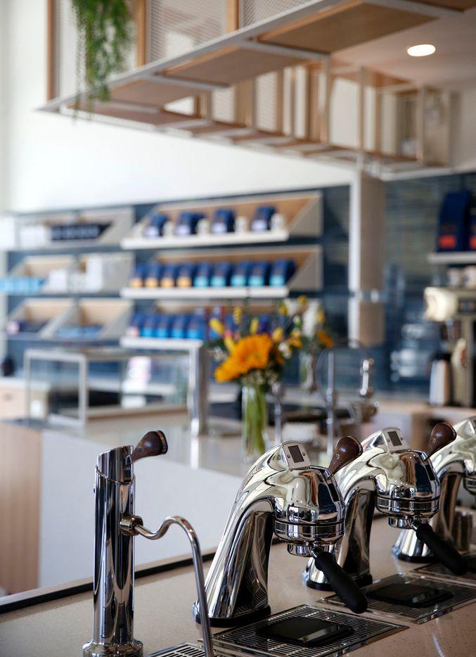 Espresso machines at Merit Coffee in Deep Ellum in Dallas on Monday, March 25, 2019. (Rose Baca/Staff Photographer)