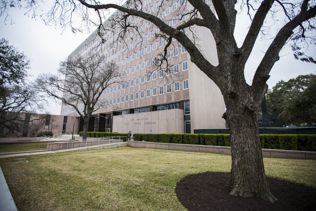 The Sam Houston State Office Building near the Texas state capitol on Thursday, February 26, 2015 in Austin, Texas.   (Ashley Landis/The Dallas Morning News)