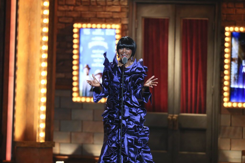 "Cicely Tyson accepts the Tony Award for Best Performance by an Actress in a Leading Role in a Play for her role in ""The Trip to Bountiful,"" during the award ceremony at Radio City Music Hall in New York, June 9, 2013. Tyson and another black actress – Patina Miller in ""Pippin"" – earned Tonys for roles that were not created for black women, and they were among four African-Americans who won Tonys this year in different shows. (Sara Krulwich/The New York Times)"