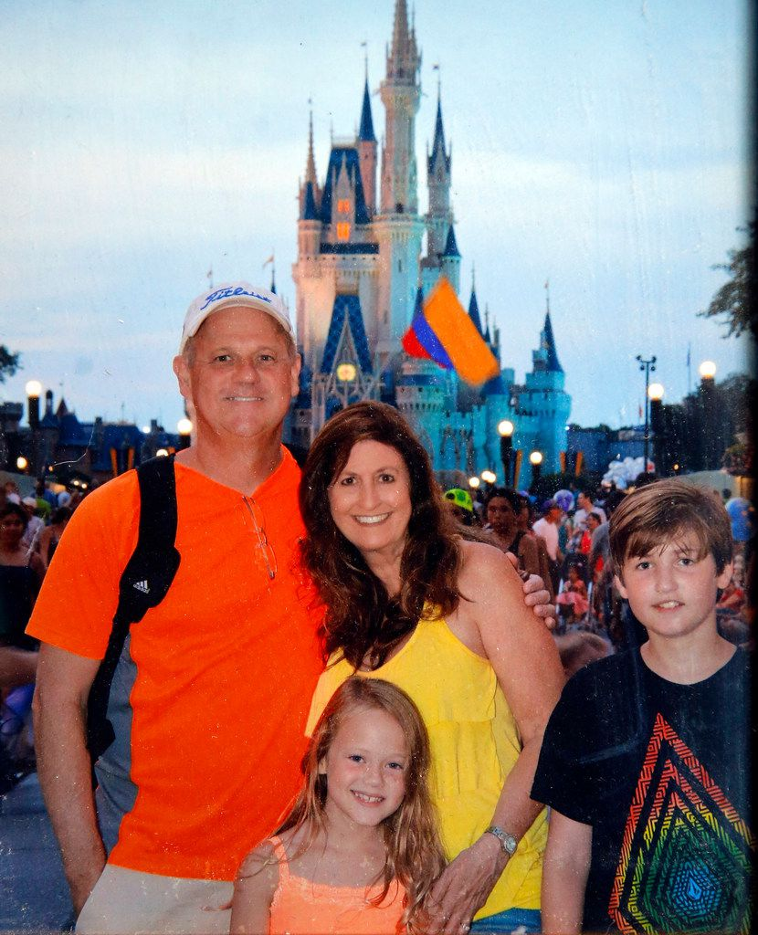 In this 2014 photo taken at Walt Disney World, Cathy and Mark Speed are pictured with their daughter Caitlin and son, Braden.