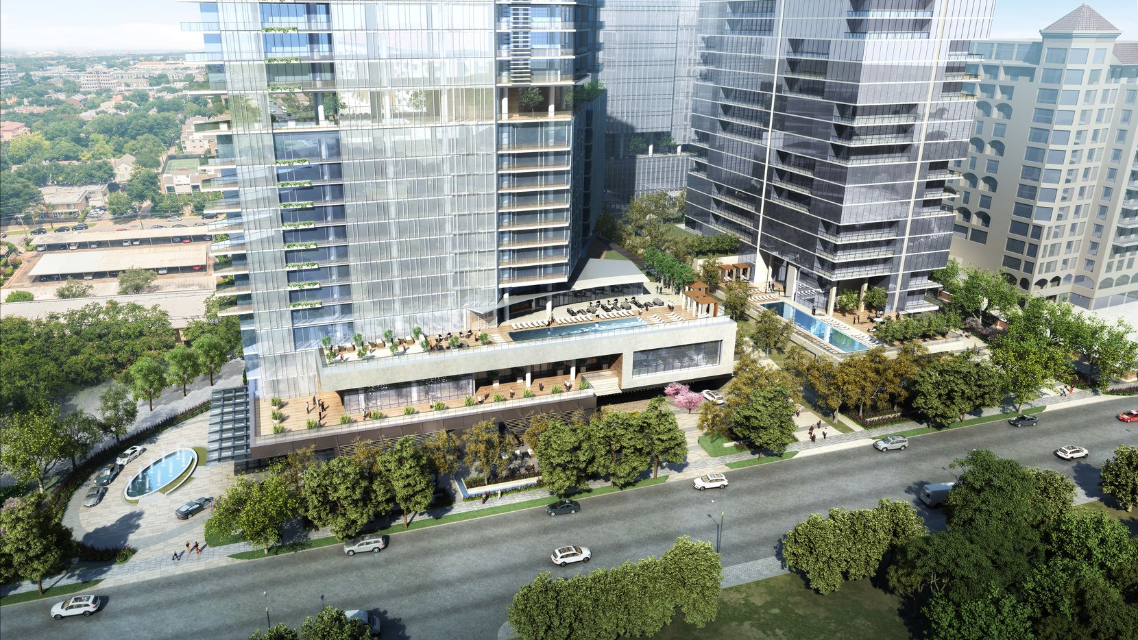 Developer Prescott Realty Group plans to build three high-rises on the site of the old Republic Insurance buildings on Turtle Creek.