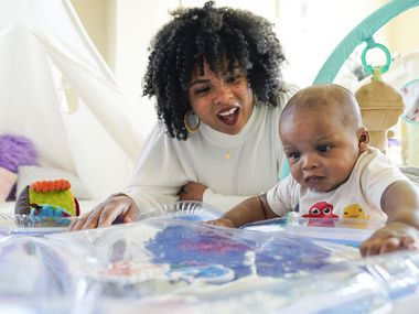 Ashleah Green photographed with her her son, A'ri, at home on Thursday, April 1, 2021, in Frisco. (Smiley N. Pool/The Dallas Morning News)