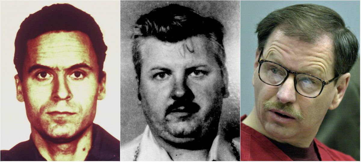 Ted Bundy (from left), known to have murdered 36 people, John Wayne Gacy (33) and Gary Ridgeway (49) are among America's most prolific serial killers. Their crimes are dwarfed in number by the nearly 60 slayings authorities have credited so far to Samuel Little.