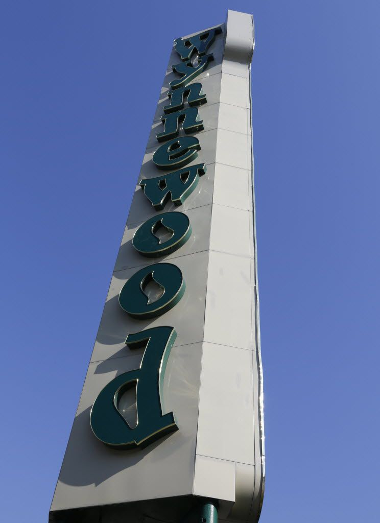 The Wynnewood Village shopping center sign photographed in Oak Cliff Saturday February 13, 2016.  (Ron Baselice/ The Dallas Morning News)