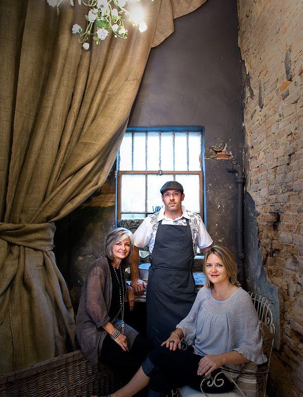 Robert Lyford, Kaci Lyford, and Kaci's mom, Luann Van Winckel, far left, opened Patina Green in 2010.